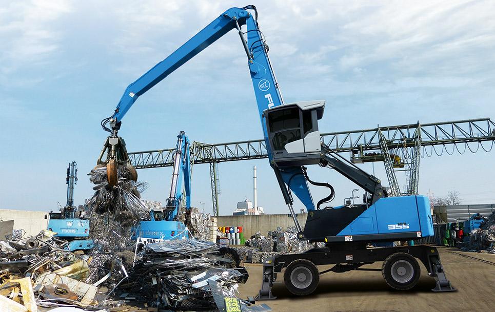 TEREX FUCHS maquinaria de manipulación y reciclaje. Amat Comercial distribuidores de TEREX - FUCHS A BARCELONA, GIRONA, LLEIDA Y GIRONA.