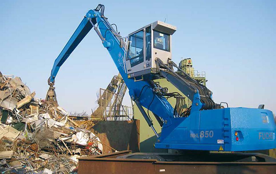 TEREX  FUCHS manipulació  reciclatge